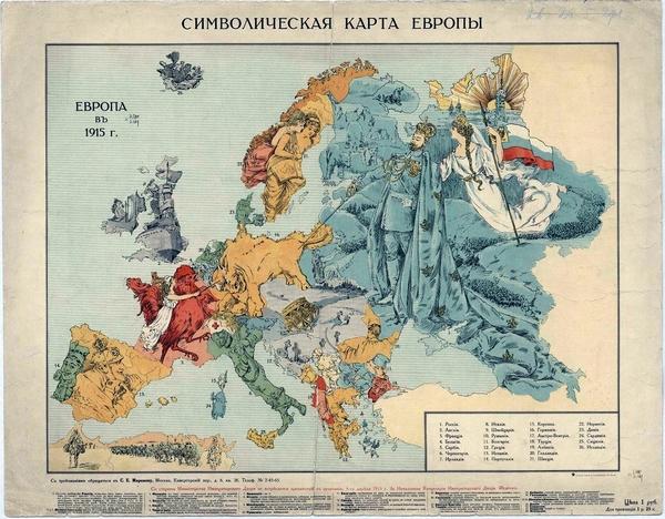 Karte Von Europa 1914.Die Grosse Sammlung Humoristischer Landkarten 1870 1918