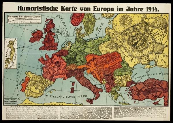 Die Grosse Sammlung Humoristischer Landkarten 1870 1918