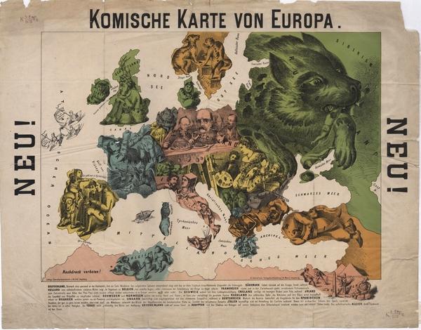 Karte Von Europa 1914.Die Große Sammlung Humoristischer Landkarten 1870 1918